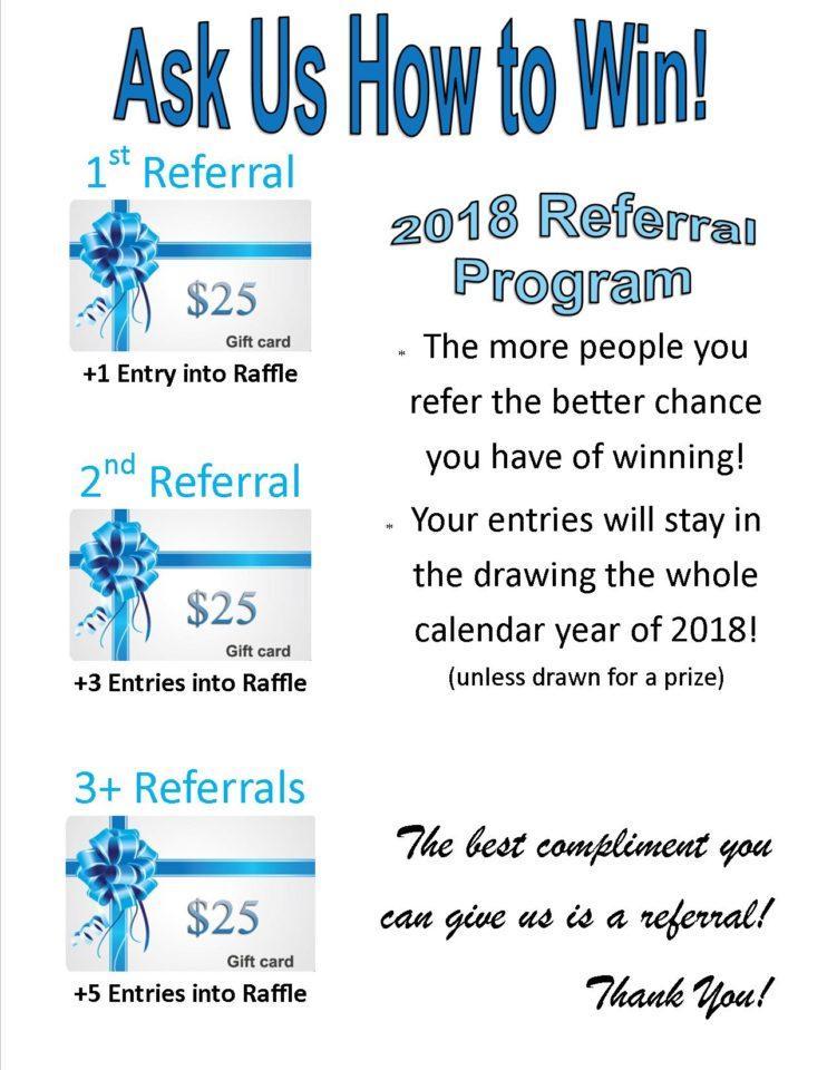 2018 referral program flyer